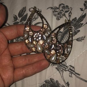 Forever 21 Pearl Sequin Earrings